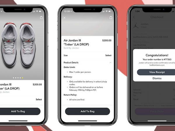 purchase process in 3 steps on the smartphone